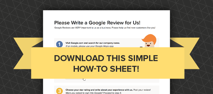 A super simple tool to use that aids people in writing Google reviews for your business.